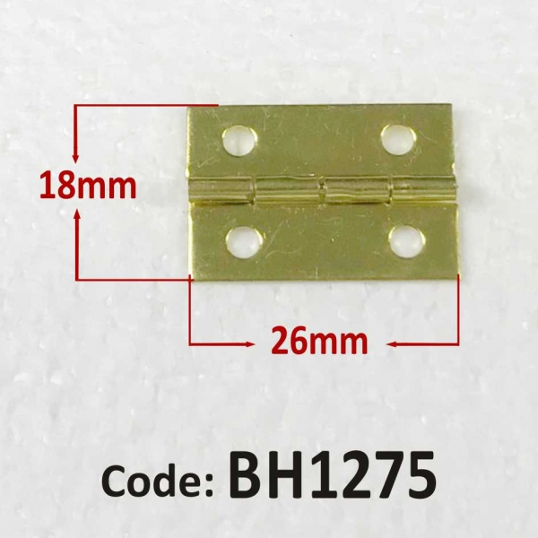 Brass Hinge 18 x 26mm