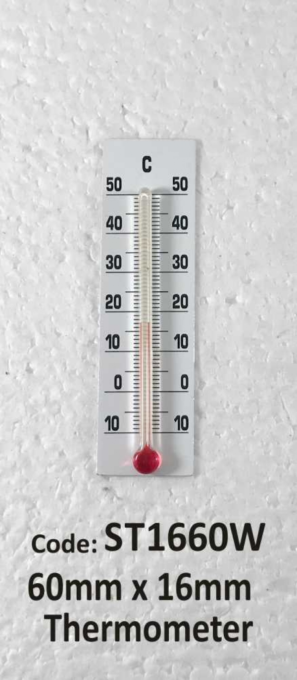 Thermometer 60mm White