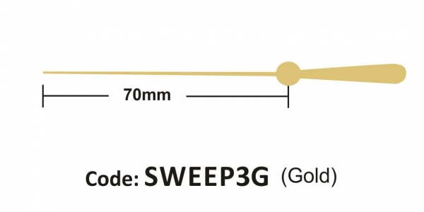 Sweep 70mm Gold